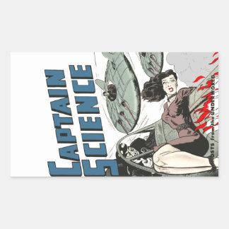 Illustration de capitaine la Science #3 Sticker Rectangulaire