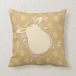 Illustration de lapin de bande dessinée oreillers