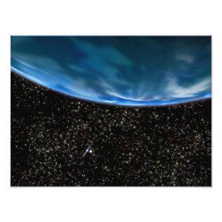 Illustration de l'horizon de la terre impression photographique