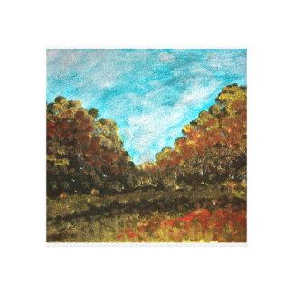 illustration de paysage toile tendue