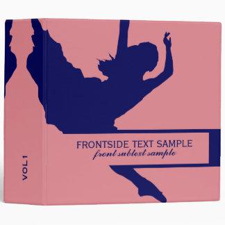 Illustration de silhouette de danseur de rose et classeurs vinyle