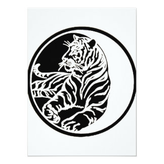 Illustration de tigre dans le noir bristol personnalisé