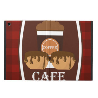 Illustration delicious cup of coffee case for iPad air