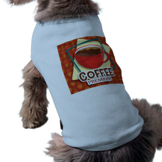 Illustration delicious cup of coffee doggie tshirt