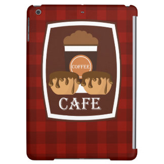Illustration delicious cup of coffee iPad air cases