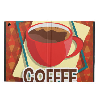 Illustration delicious cup of coffee iPad air covers