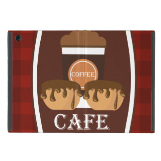 Illustration delicious cup of coffee iPad mini cases