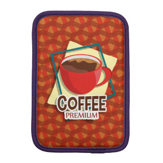 Illustration delicious cup of coffee iPad mini sleeve