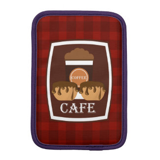 Illustration delicious cup of coffee iPad mini sleeves
