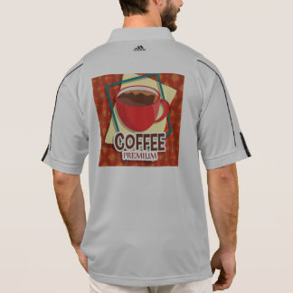 Illustration delicious cup of coffee polo shirt