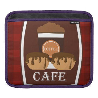 Illustration delicious cup of coffee sleeves for iPads