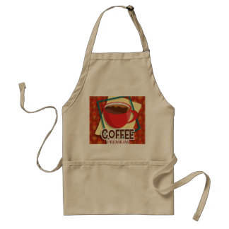 Illustration delicious cup of coffee standard apron