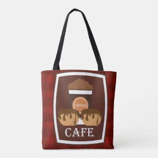 Illustration delicious cup of coffee tote bag