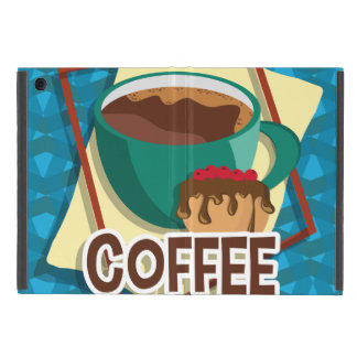 Illustration delicious cup of coffee with a muffin cover for iPad mini