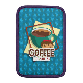 Illustration delicious cup of coffee with a muffin iPad mini sleeves