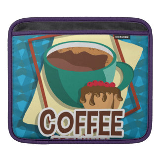 Illustration delicious cup of coffee with a muffin sleeve for iPads