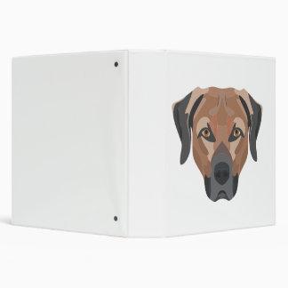 Illustration Dog Brown Labrador 3 Ring Binder