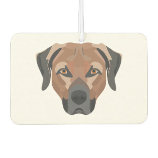 Illustration Dog Brown Labrador Air Freshener