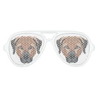 Illustration Dog Brown Labrador Aviator Sunglasses