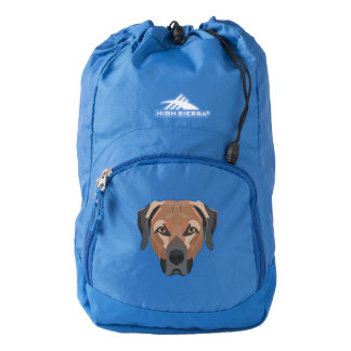 Illustration Dog Brown Labrador Backpack