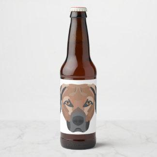 Illustration Dog Brown Labrador Beer Bottle Label