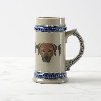 Illustration Dog Brown Labrador Beer Stein
