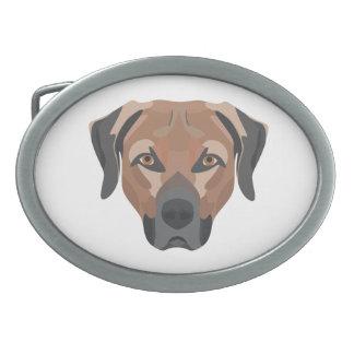 Illustration Dog Brown Labrador Belt Buckles