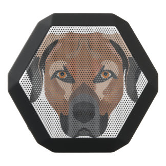 Illustration Dog Brown Labrador Black Bluetooth Speaker