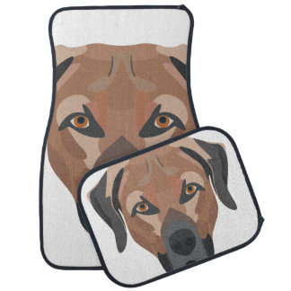 Illustration Dog Brown Labrador Car Mat