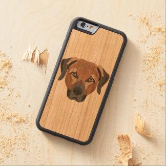 Illustration Dog Brown Labrador Carved Cherry iPhone 6 Bumper Case