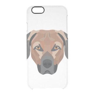 Illustration Dog Brown Labrador Clear iPhone 6/6S Case