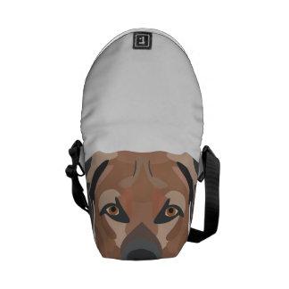 Illustration Dog Brown Labrador Commuter Bags