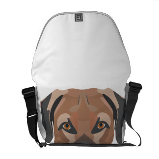 Illustration Dog Brown Labrador Courier Bag