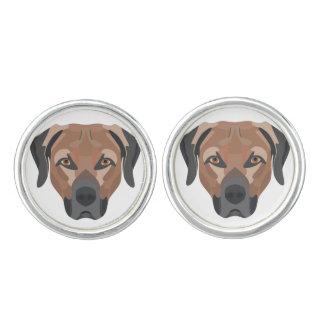 Illustration Dog Brown Labrador Cuff Links