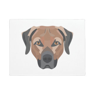 Illustration Dog Brown Labrador Doormat