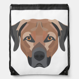 Illustration Dog Brown Labrador Drawstring Bag