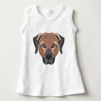 Illustration Dog Brown Labrador Dress