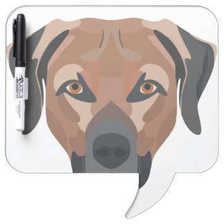 Illustration Dog Brown Labrador Dry Erase Board