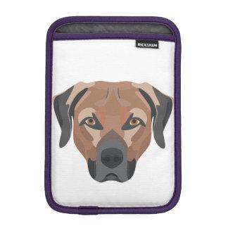 Illustration Dog Brown Labrador iPad Mini Sleeve