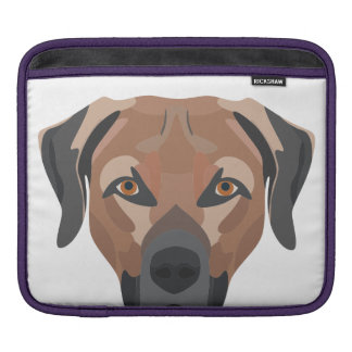 Illustration Dog Brown Labrador iPad Sleeve