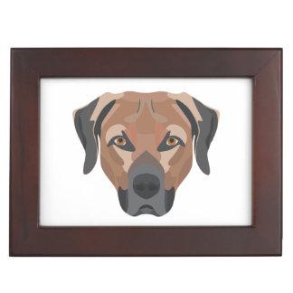 Illustration Dog Brown Labrador Keepsake Box