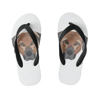 Illustration Dog Brown Labrador Kid's Flip Flops