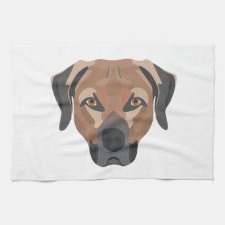 Illustration Dog Brown Labrador Kitchen Towel