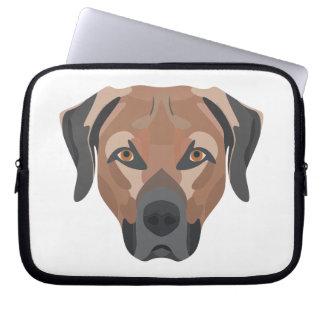 Illustration Dog Brown Labrador Laptop Sleeve