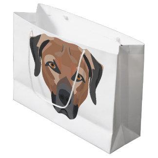 Illustration Dog Brown Labrador Large Gift Bag