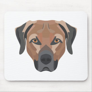 Illustration Dog Brown Labrador Mouse Pad