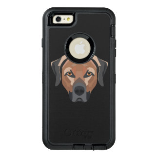 Illustration Dog Brown Labrador OtterBox Defender iPhone Case