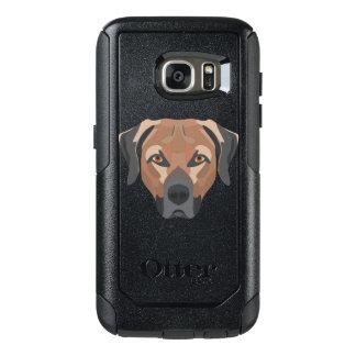 Illustration Dog Brown Labrador OtterBox Samsung Galaxy S7 Case
