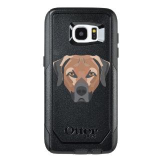 Illustration Dog Brown Labrador OtterBox Samsung Galaxy S7 Edge Case
