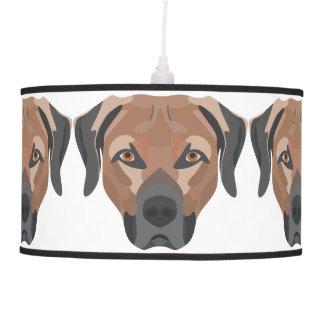 Illustration Dog Brown Labrador Pendant Lamp